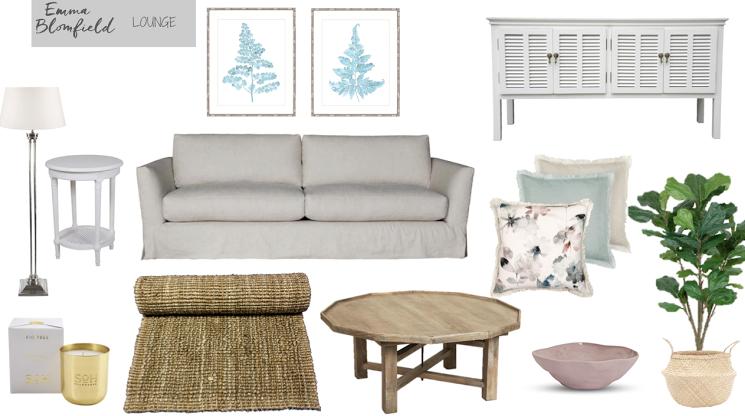 Edecorating project sneak peeks emma blomfield interior Hampton style living room furniture