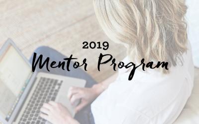 Mentor Program For 2019