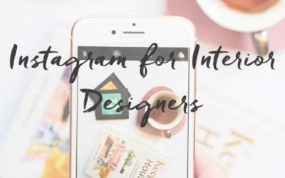 Instagram for Interior Design