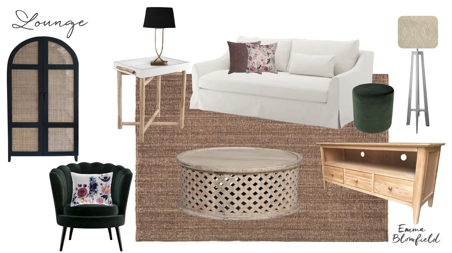Annandale eDecorating Lounge Room Mood Board