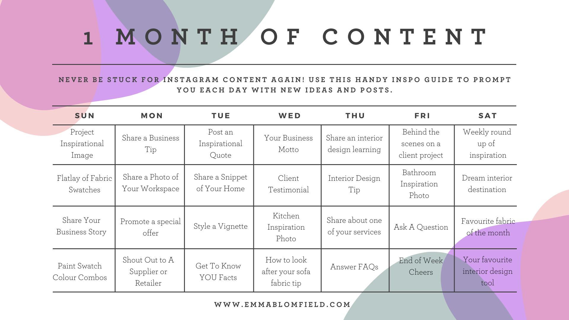 1-Month-Instagram-Content-Emma-Blomfield