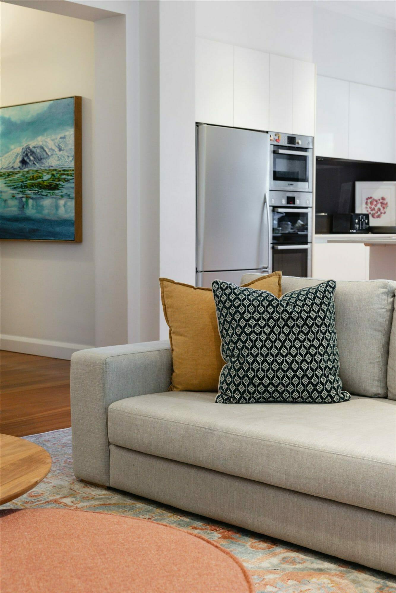Cammeray Family Home - Custom Sofa - Interior Design Project - Emma Blomfield